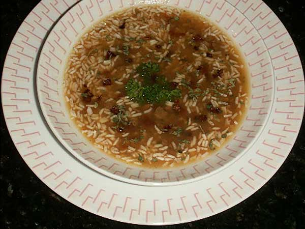Gluten Free No Beef Rice Soup